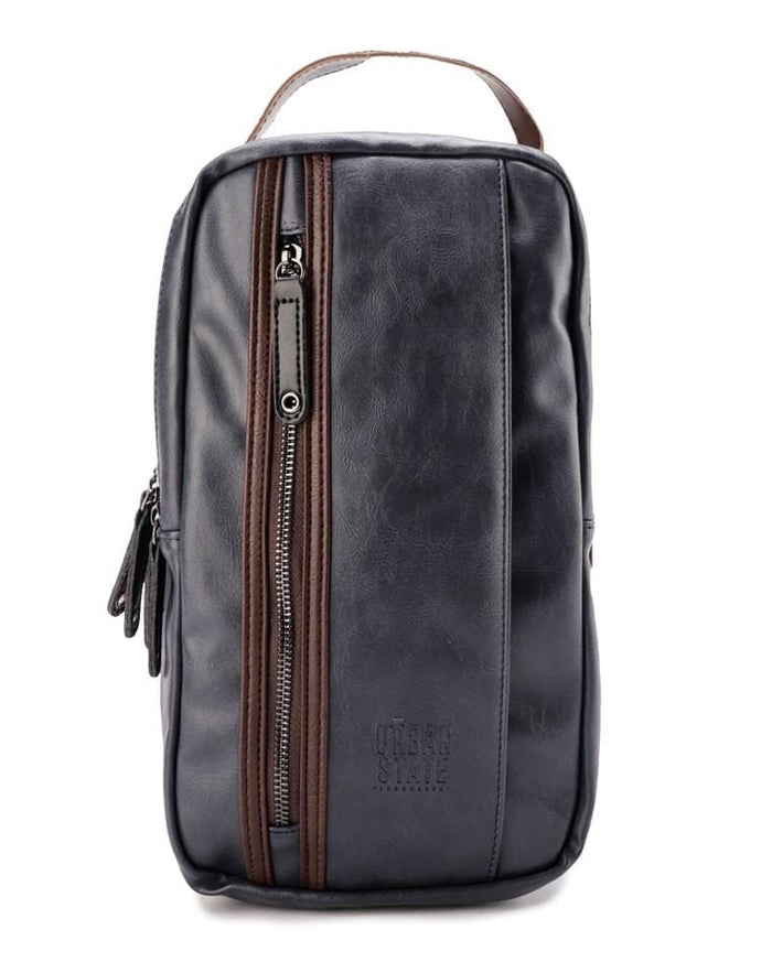 Pu Panel Contrast Slingbag - Navy
