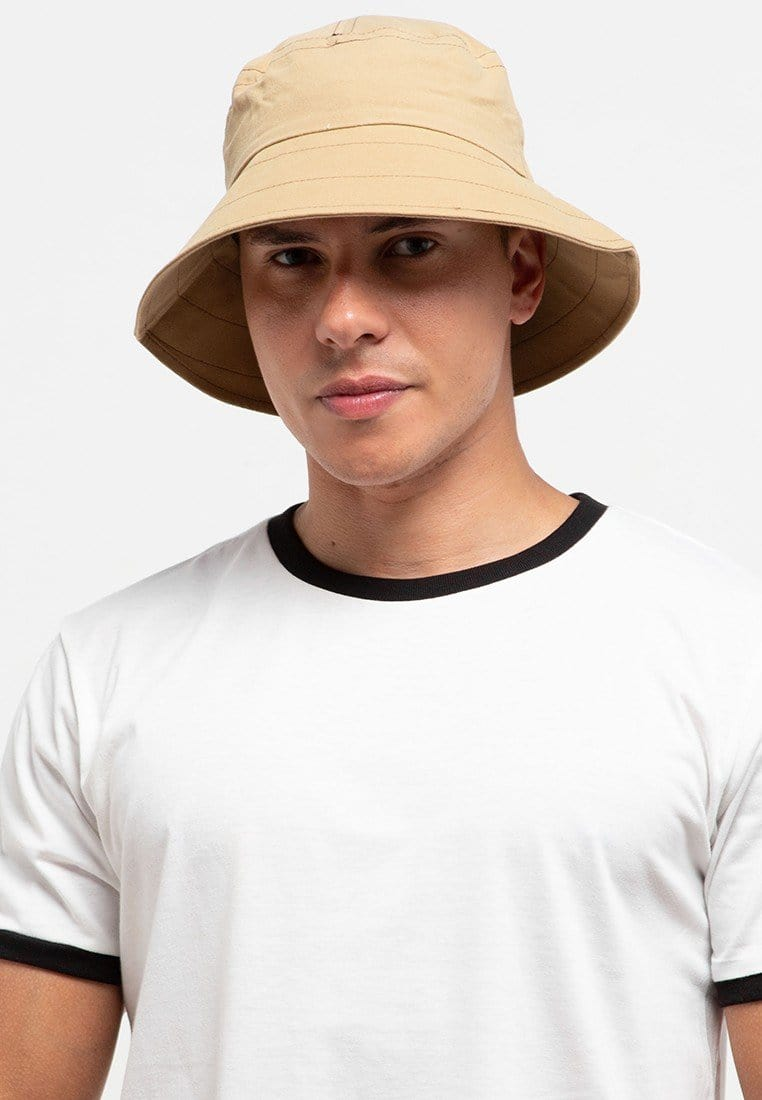 Wide Brim Bucket Hat - Green