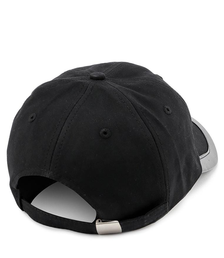 Plastic Trim Baseball Cap - Black