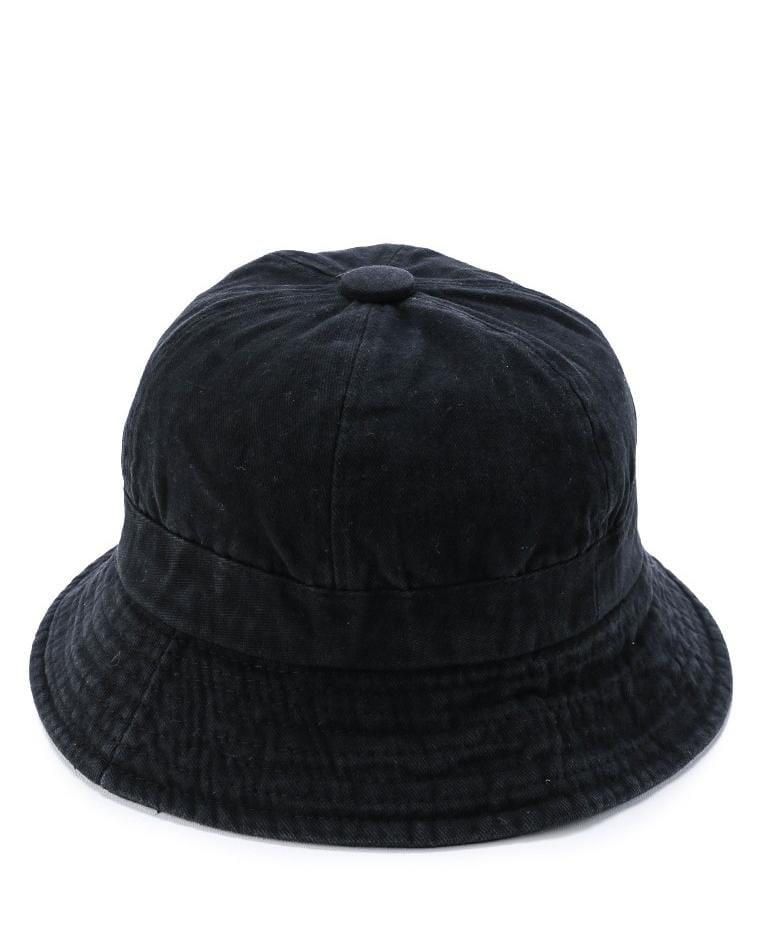 Washed Cotton Bucket Hat - Black