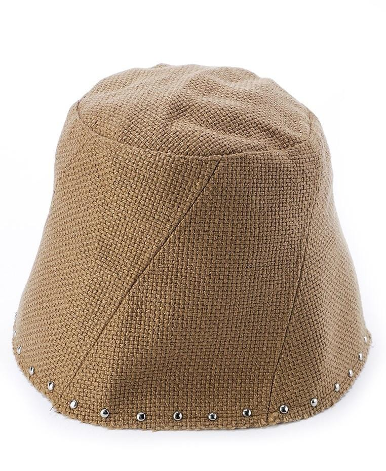 Studded Gunny Beanie - Brown
