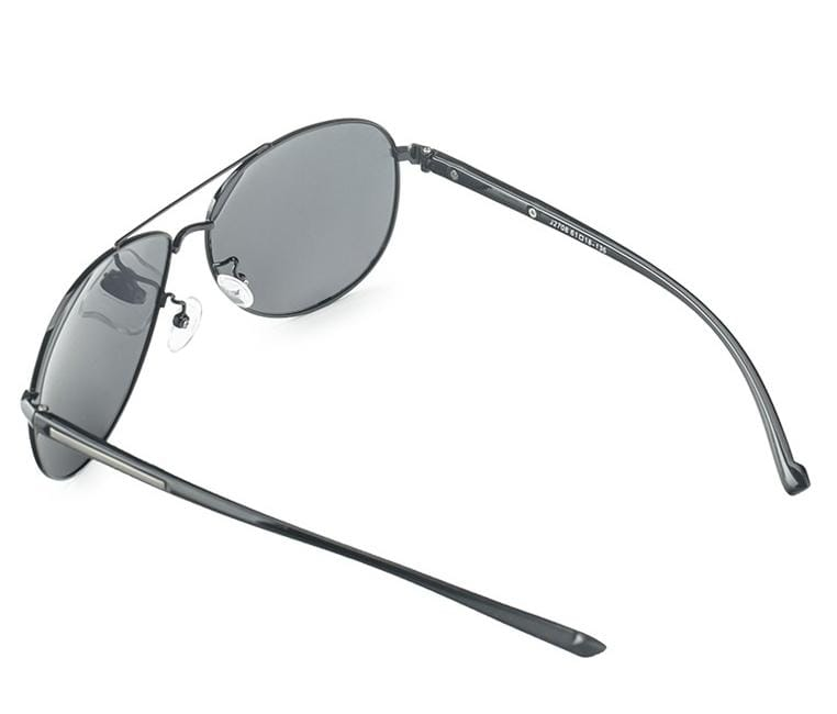 Polarized Polaroid Aviator Sunglasses - Black Matte