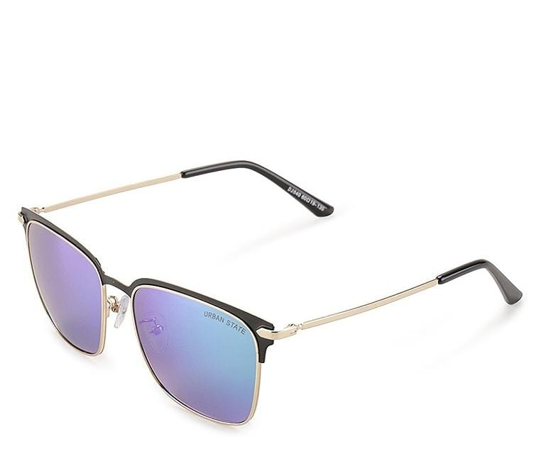 Polarized Contrast Half Frame Sunglasses - Green Gold Sunglasses - Urban State Indonesia