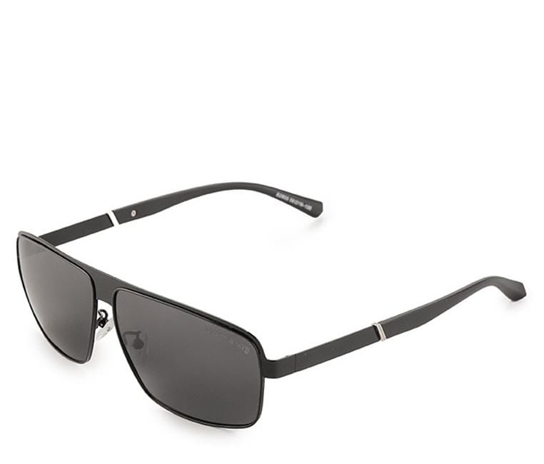 Polarized Curved Sporty Sunglasses - Black Glossy Sunglasses - Urban State Indonesia