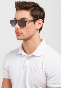 Polarized Rimless Aviator Sunnies - Black Matte Sunglasses - Urban State Indonesia