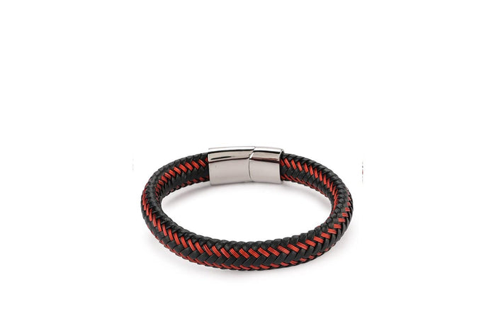 Multi-Strand Woven Leather Bracelet - Red Bracelets - Urban State Indonesia
