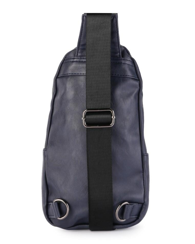 Distressed Leather Pocket Slingbag - Navy Slingbags - Urban State Indonesia