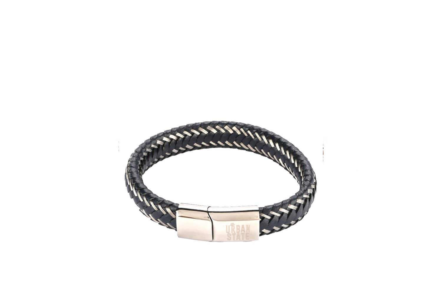 Multi-Strand Woven Leather Bracelet - Navy Bracelets - Urban State Indonesia