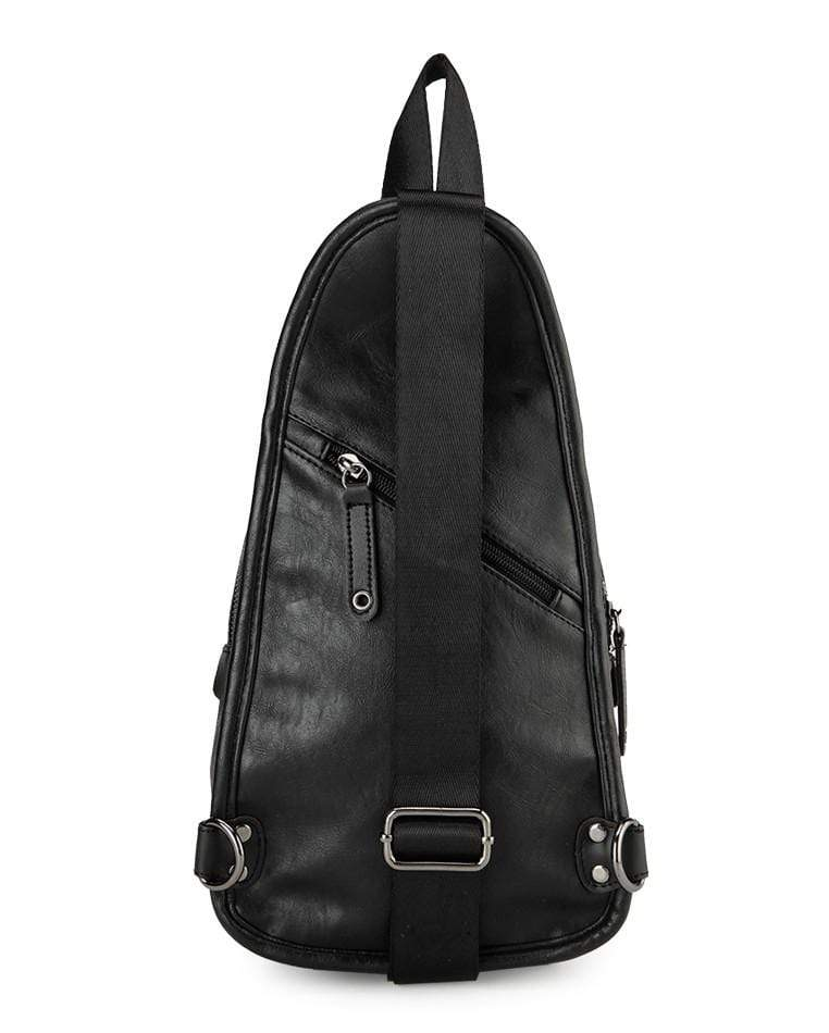 Pu Original Contrast Slingbag - Black