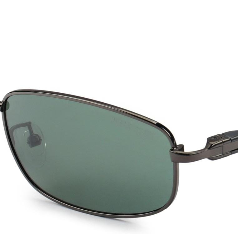 Polarized Lead Slim Sunnies - Green Silver Sunglasses - Urban State Indonesia