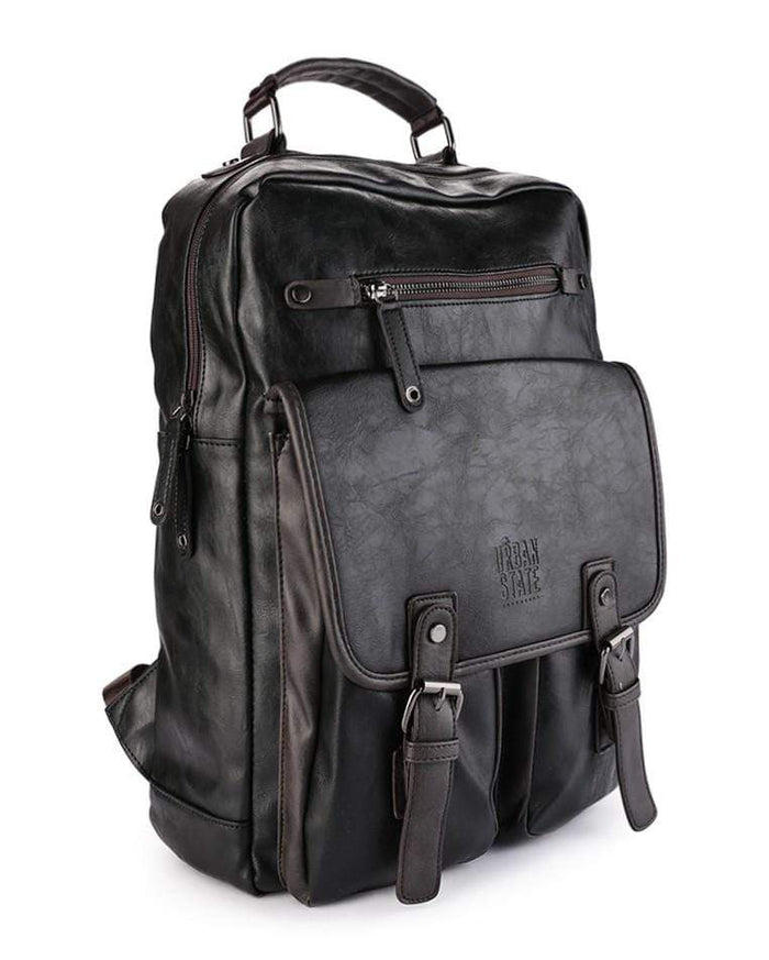 Pu Utility Large Backpack - Black