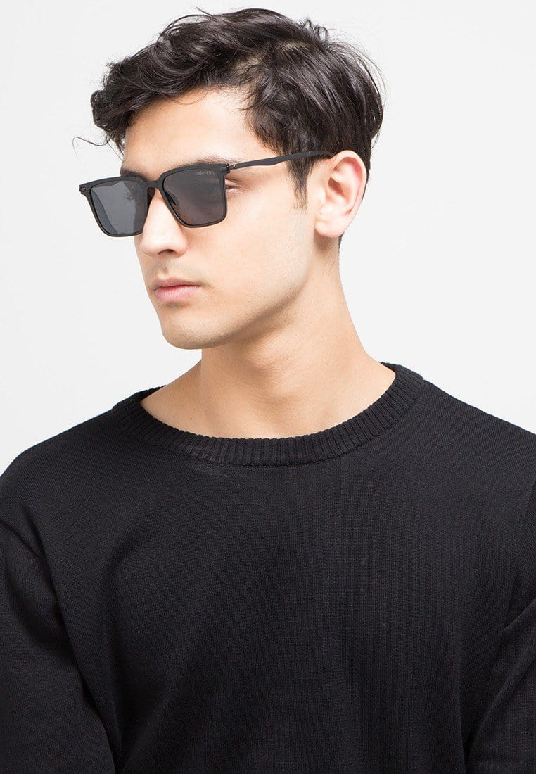 Polarized Slim Matador Sunglasses - Black Matte