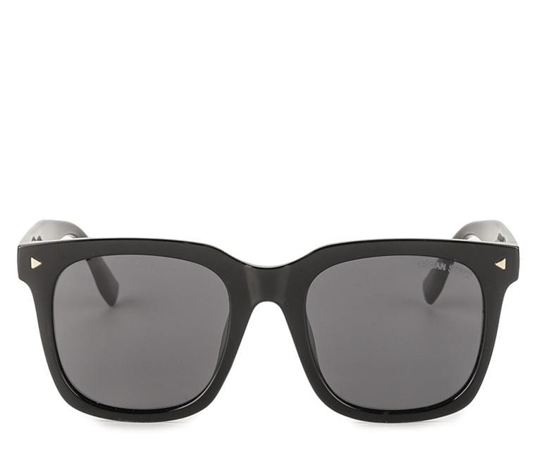 Polarized Square Boyfriend Sunglasses - Black Matte
