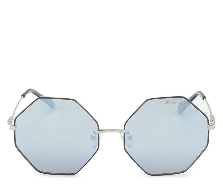 Polarized Hexagon Sunglasses - Silver Silver Sunglasses - Urban State Indonesia