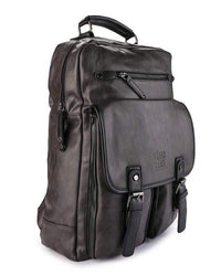Pu Utility Large Backpack - Brown