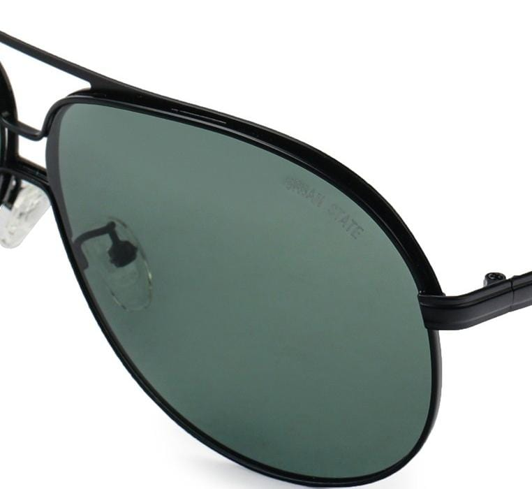 Polarized Large Lead Aviator Sunnies - Green Black Sunglasses - Urban State Indonesia