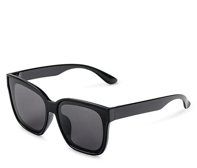 Polarized Oversized Plastic Framed Sunnies - Black Glossy Sunglasses - Urban State Indonesia