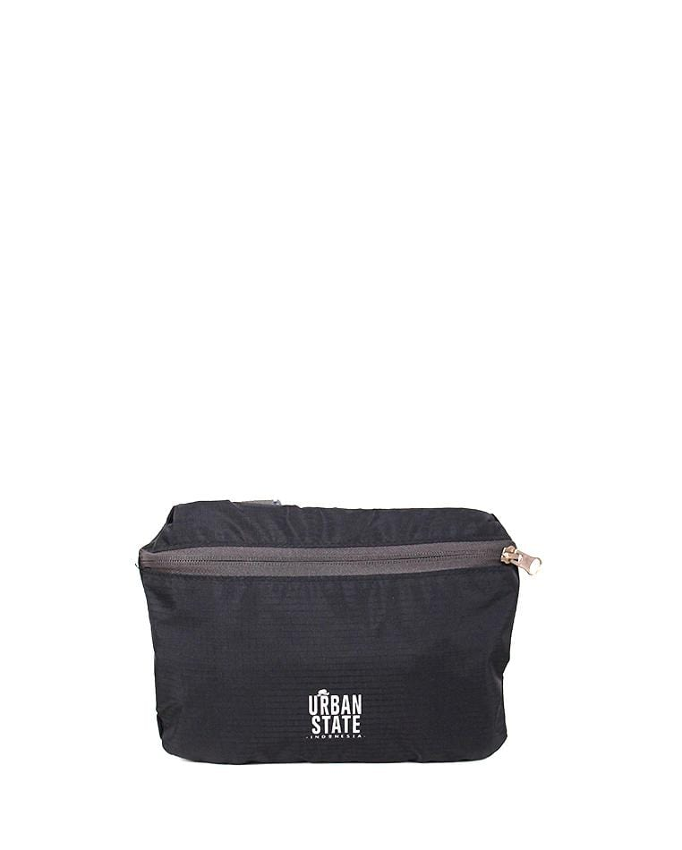 Poly Nylon Convertible Duffel Pouch - Black Duffel Bags - Urban State Indonesia