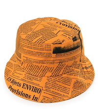 Newspaper Bucket Hat - Orange