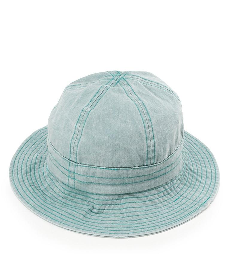 Washed Cotton Tropical Hat - Blue