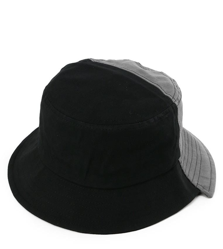 Colorblock Bucket Hat - Black Grey