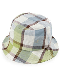 Contrast Plaid Bucket Hat - Green