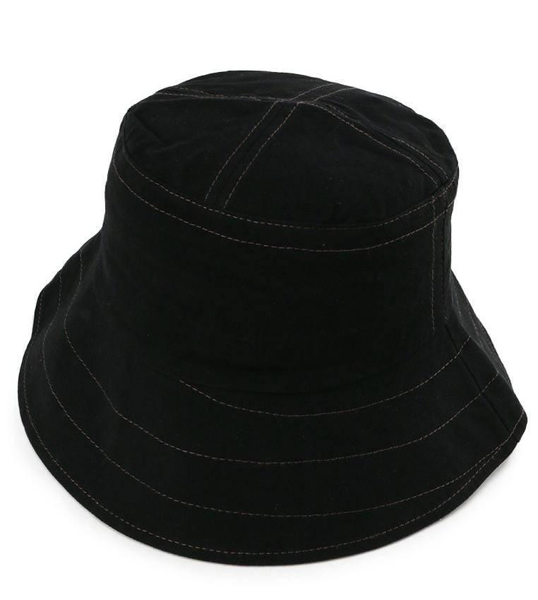 Wide Brim Bucket Hat - Black