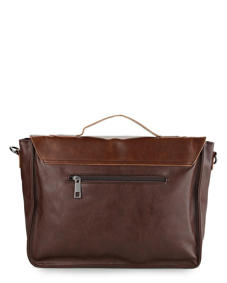 Distressed Leather Office Bag - Dark Brown Messenger Bags - Urban State Indonesia