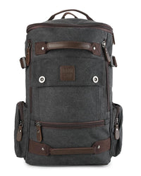 Canvas Bucket Large Backpack - Black Backpacks - Urban State Indonesia