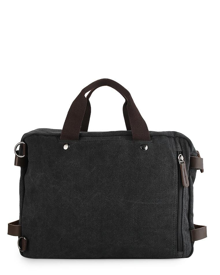 Canvas Pocket Top Handle Crossbody Bag - Black Messenger Bags - Urban State Indonesia
