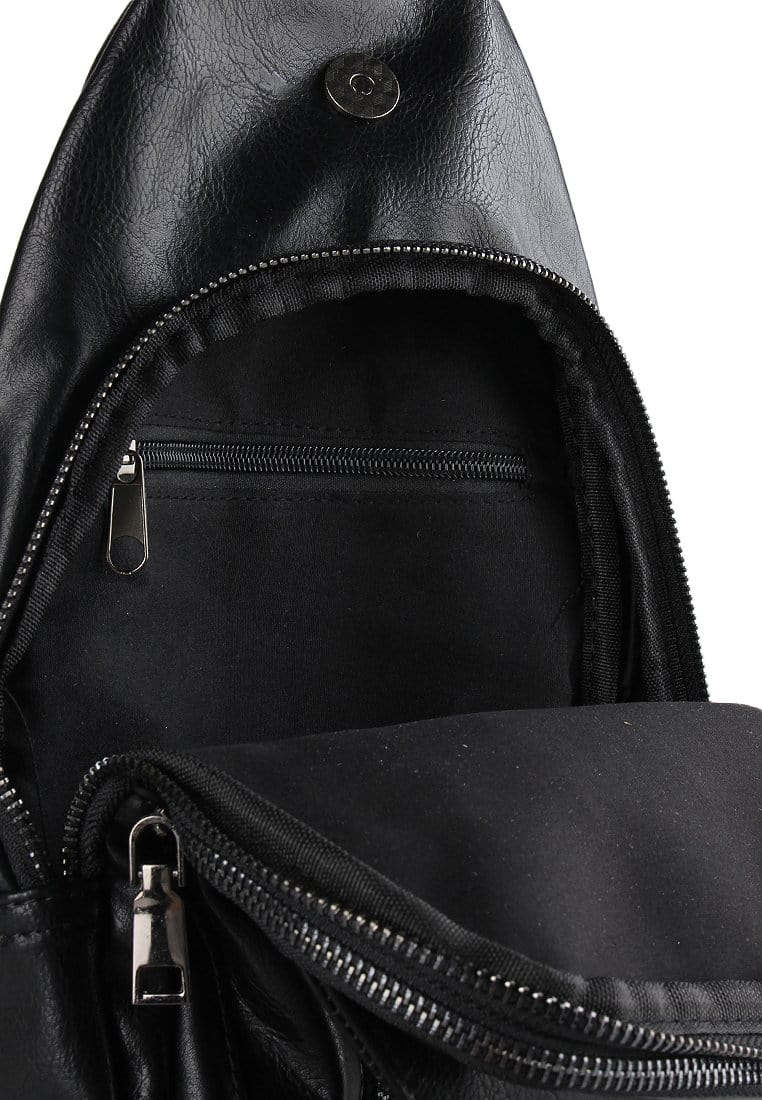 Pu Zip Button Small Slingbag Slingbags - Urban State Indonesia
