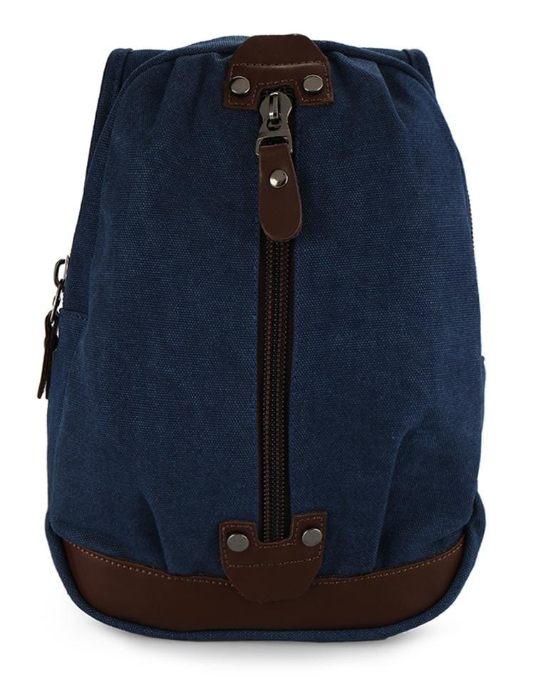 Canvas Zip Small Slingbag - Navy Slingbags - Urban State Indonesia