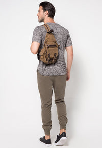 Canvas Utility Sling Bag - Brown Slingbags - Urban State Indonesia