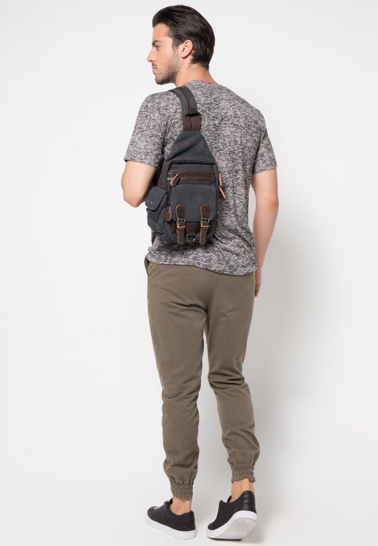Canvas Utility Sling Bag - Black Slingbags - Urban State Indonesia