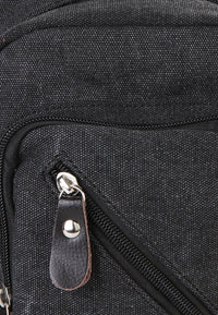 Canvas Zipper Small Slingbag - Black Slingbags - Urban State Indonesia