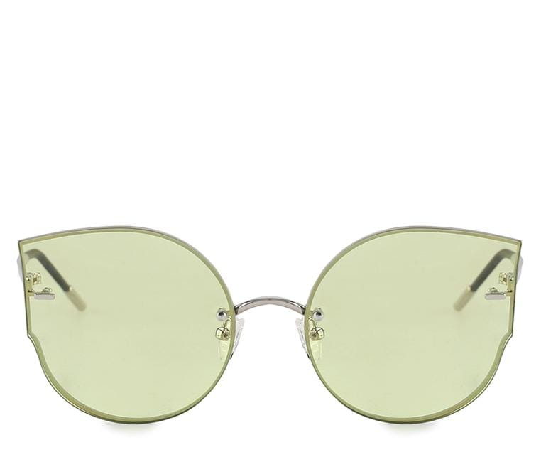 Cat Eye Sunnies - Green Silver Sunglasses - Urban State Indonesia