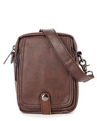 Distressed Leather EDC Waist Pack - Dark Brown Waist Packs - Urban State Indonesia