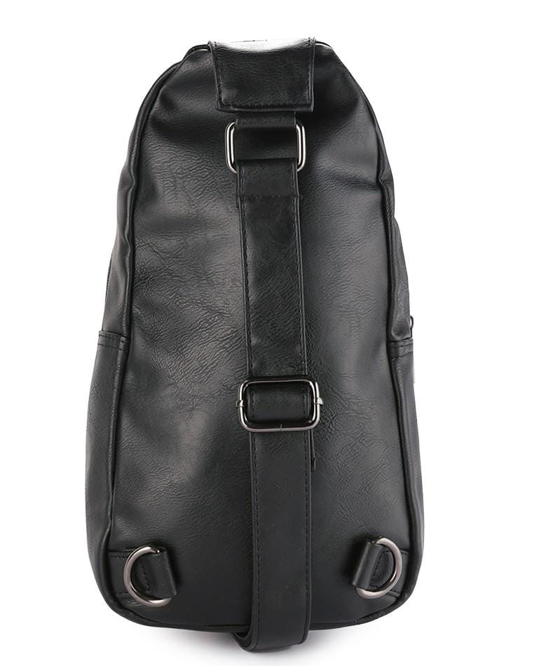 Distressed Leather Buckle Slingbag - Black Slingbags - Urban State Indonesia