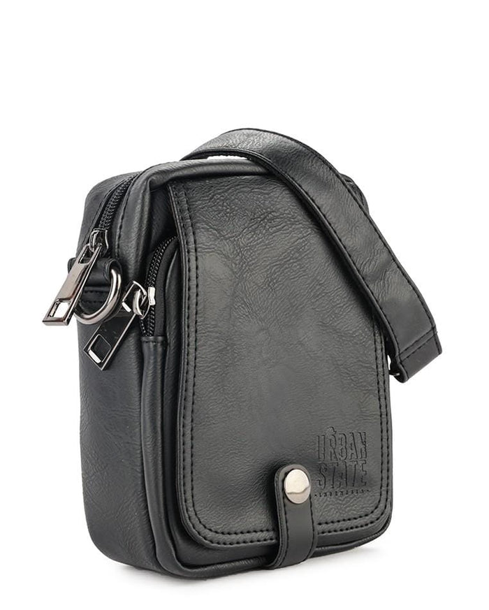 Distressed Leather EDC Waist Pack - Black Waist Packs - Urban State Indonesia