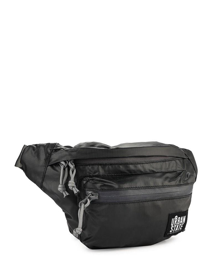 Poly Nylon Small Waist Pack - Black Waist Packs - Urban State Indonesia