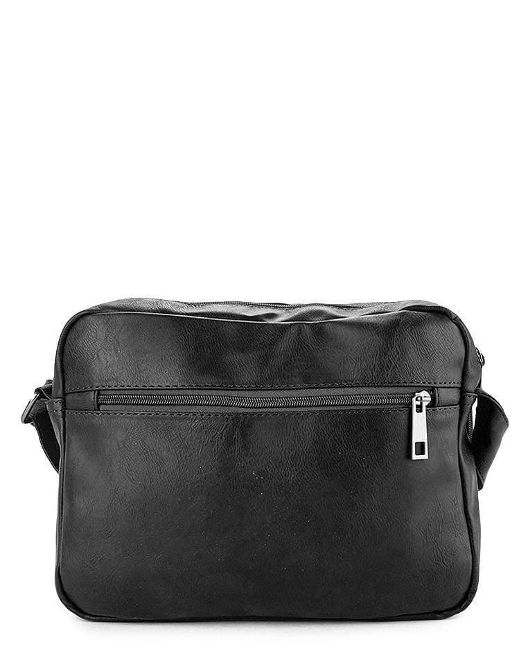 Distressed Leather EDC Crossbody Bag - Black Messenger Bags - Urban State Indonesia