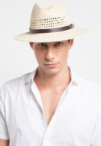 Belted Panama Hat - Cream Fedora Hat - Urban State Indonesia