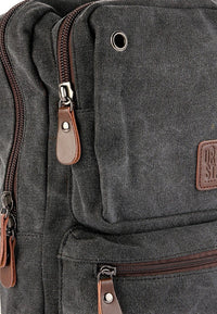 Canvas Zipper Ring Medium Slingbag - Black Slingbags - Urban State Indonesia