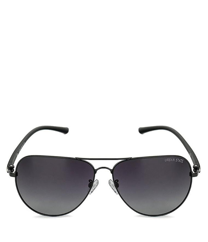 Polarized Modern Slim Aviator Sunglasses - Black Black
