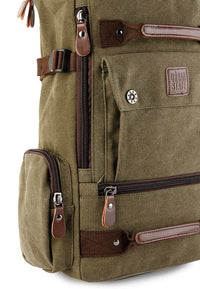 Canvas Bucket Large Backpack - Green Backpacks - Urban State Indonesia