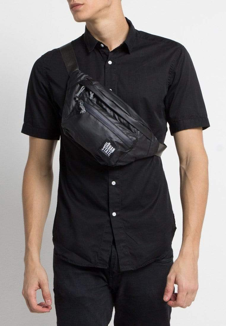 Poly Nylon Small Waist Pack - Black