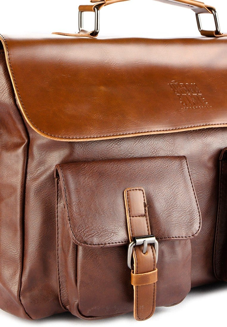 Distressed Leather Pocket Office Bag - Dark Brown Messenger Bags - Urban State Indonesia
