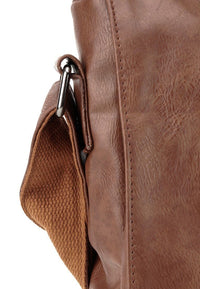 Distressed Leather EDC Medium Messenger Bag - Camel Messenger Bags - Urban State Indonesia