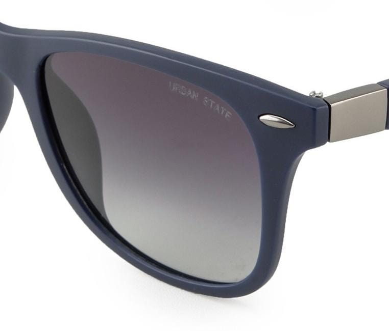 Polarized Matte Frame Rectangular Sunglasses - Blue Blue