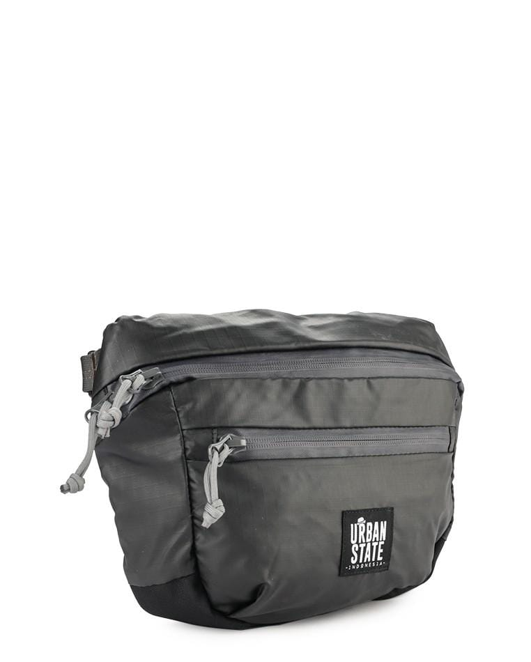 Poly Nylon Medium Waist Pack - Black Waist Packs - Urban State Indonesia